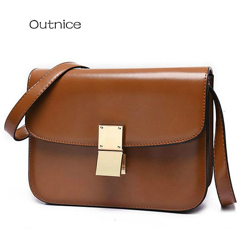 OUTNICE Retro Women Messenger Bag UK Style Designer PU Leather Satchel Cross  body Bag Lady Shoulder dfff17b29a