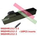 1 шт. MGEHR1212-1.5/MGEHL1212-1.5/MGEHR1212-2/MGEHL1212-2/MGEHR1212-3/MGEHL1212-3 с 10 твердосплавными вставками токарные станки с ЧПУ