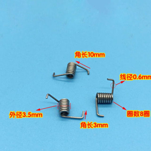 Wire Dia 0.6mm OD 3.5mm Springs Miniature Torsion Spring 10PCS-in ...