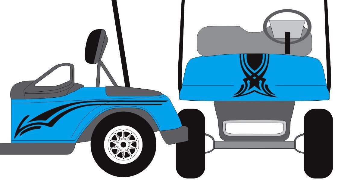 For 1Set Swoop Hood Golf Cart Decal Graphic Sticker EZ Go Club Car Boston Whaler Golf Cart Html on
