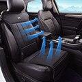 Cuero del asiento de coche eléctrico ventilador de ventilación del aire acondicionado asiento solo 12 v del coche del amortiguador de aire, verano cojín del asiento de coche fan,