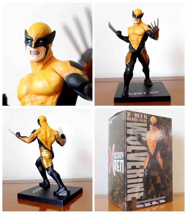 Hot 7 X-MEN Movie The Wolverine Comics Yellow Cloth Ver. Boxed 18cm PVC Action Figure Collection Model Doll Toy free shipping 6 comics dc superhero shfiguarts batman injustice ver boxed 16cm pvc action figure collection model doll toy