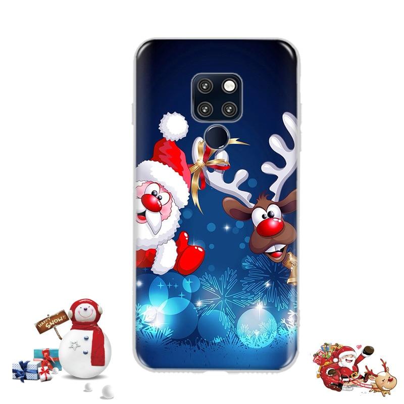 Cartoon Santa Claus Deer Cover Case Huawei Mate 20 Lite Merry Christmas Silicone Soft Phone Bags Huawei Mate 10 Lite P20 Lite