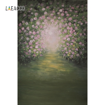 Laeacco Spring Blossom Oil Painting Bokeh Blurry Baby Portrait Photography Backgrounds Photographic Backdrops For Photo Studio laeacco lollipop candy bar dessert donut baby birthday photography backdrops customize photographic backgrounds for photo studio