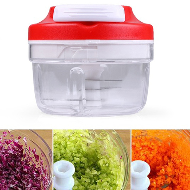 1PCS High Speedy Chopper Garlic Cutter Vegetable Fruit Twist Shredder Manual Meat Grinder