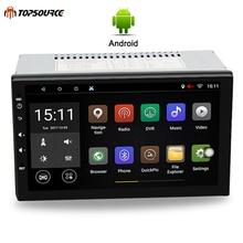 TOPSOURCE Универсальный 7 «2 din dvd-плеер автомобиля Rds автомобиль радио gps навигации WI-FI Bluetooth Android 4 ядра 1 г /16 г 1024*600