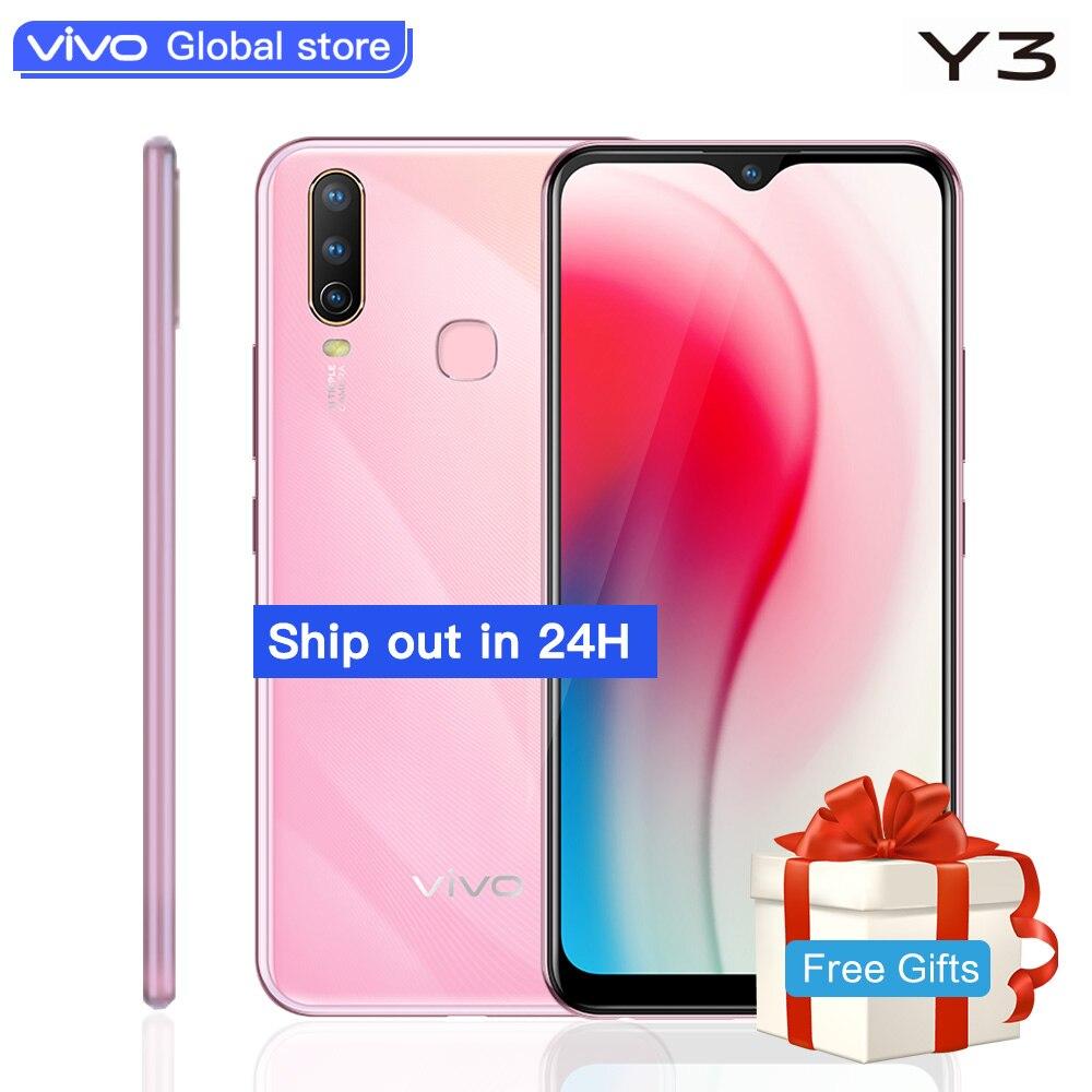 Global Original vivo Y3 mobile phone 6 35 Water drop Screen 5000mAh 4G RAM 128G ROM