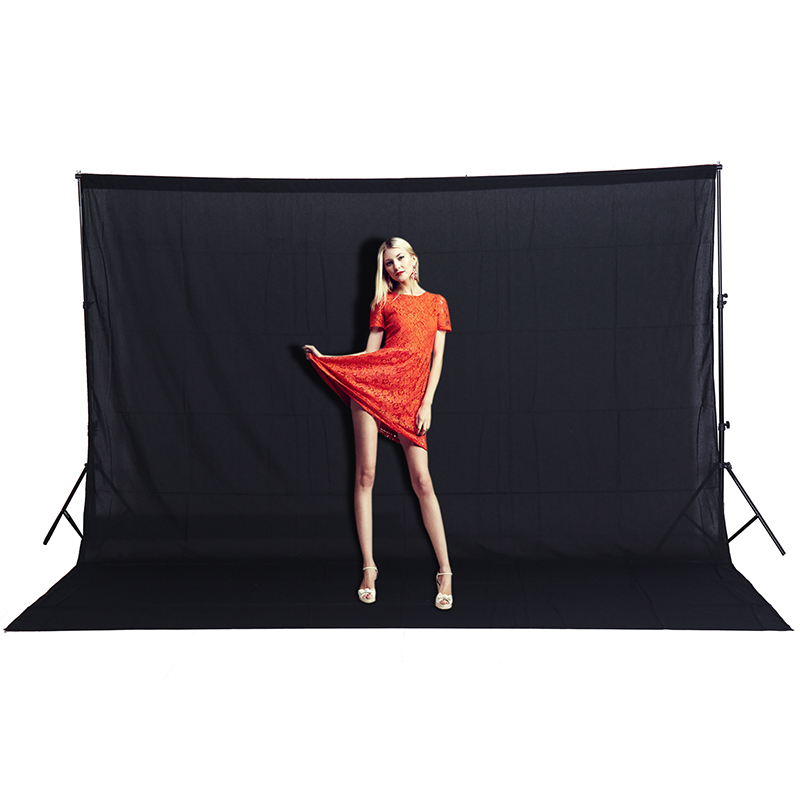 CY Hot sale 3x2M Effect Image Solid color Backgrounds Black screen cotton Muslin background Photography backdrop