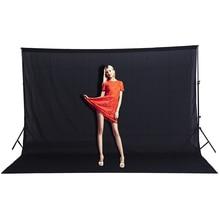 CY Лидер продаж 3×2 м эффект, цвет Фоны черный экран хлопок муслин Задний план Фон фотографии освещения studio