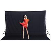 CY Hot Sale 3x2M Effect Image Solid Color Backgrounds White Screen Cotton Muslin Background Photography Backdrop