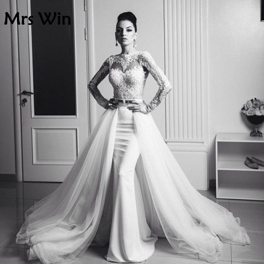 Vintage high neck long sleeve mermaid wedding dress 2017 for Long sleeve mermaid wedding dresses 2017