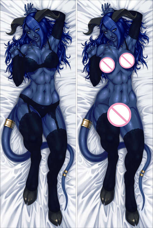 Popular Game Original Anime Characters Sexy Girl Draenei Succubus Pillow Cover Body Pillowcase