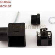20 шт./лот Din 43650-A линейный разъем для клапана соленоида катушки разъем DIN43650A черный