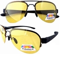 P11001-1 Yellow High Definition Polarized HD Night Driving Sunglasses