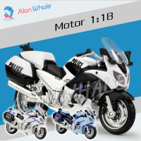 1 18 Scale New Yamaha FJR1300A Police Metal Diecast Model Motorcycle Motorbike Policeman Racing Car Toys