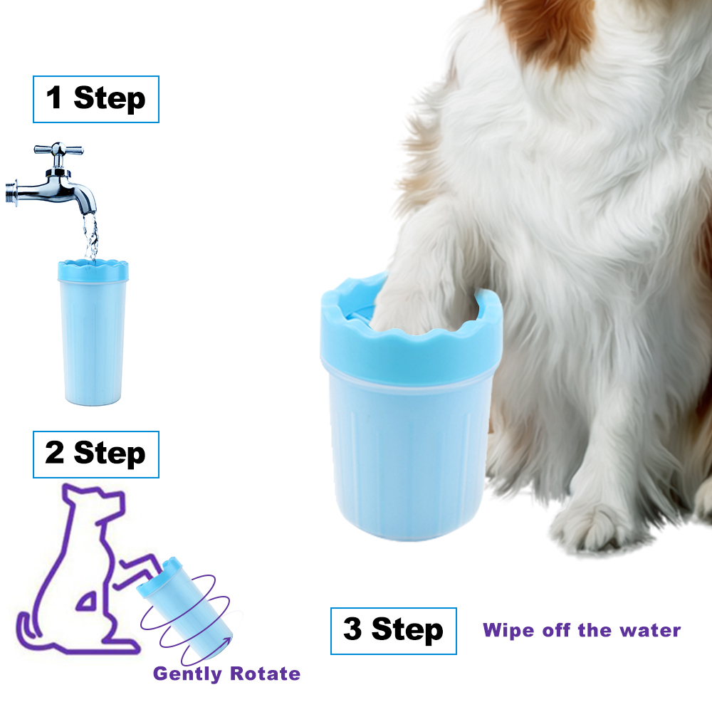 Portable Pet Foot Washer Cup Soft Gentle Silicone Bristles Pet Clean