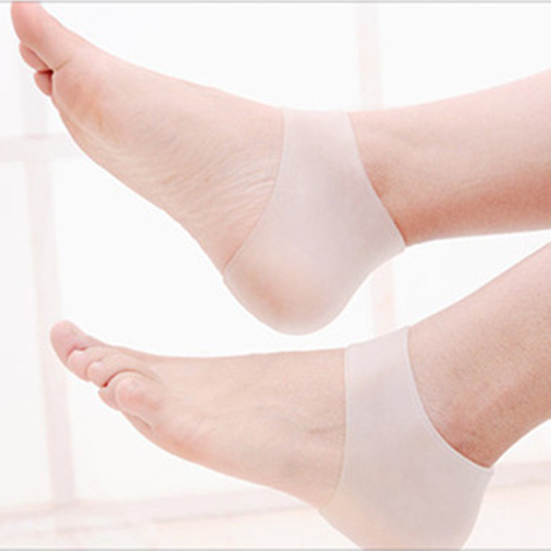 Fisioterapia Tacones Heel Pain and Crack Relief Soft and Safe Medical Silica Gel Plantar Fasciitis Heel Cushion Support Socks