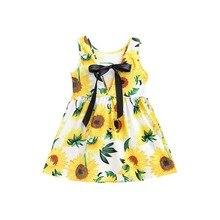 Платье для маленьких девочек лето цветок стиль платье летняя детская одежда Платья для малышек для принцессы день рождения Лидер продаж