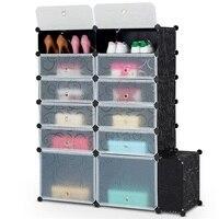 DIY 13 Cube 24 Pair Space Saving Portable Shoe Storage Cabinet Shoe Storage Organizer HW59324