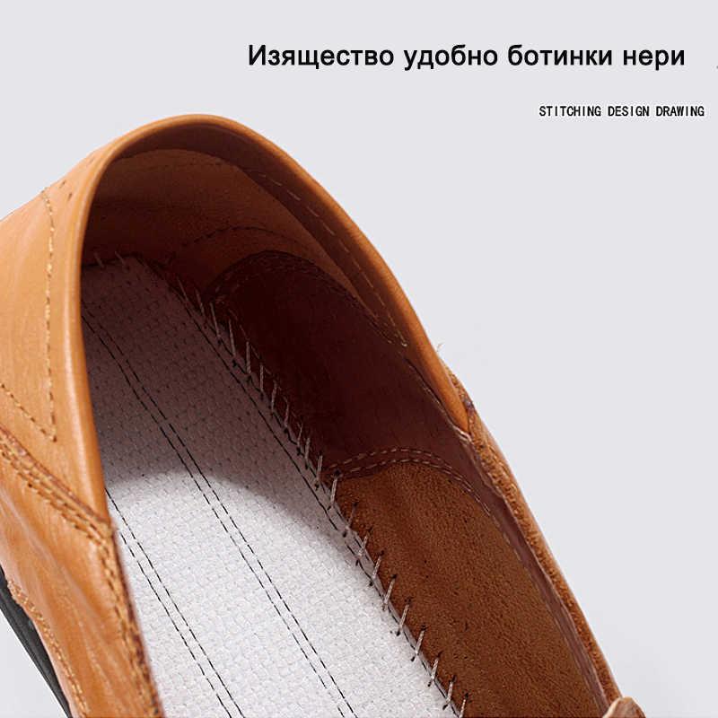 11d32b28f ... Valstone 2018 осенние кожаные туфли мужские итальянские мокасины ручной  работы Нескользящие Лоферы горячая Распродажа туфли на ...