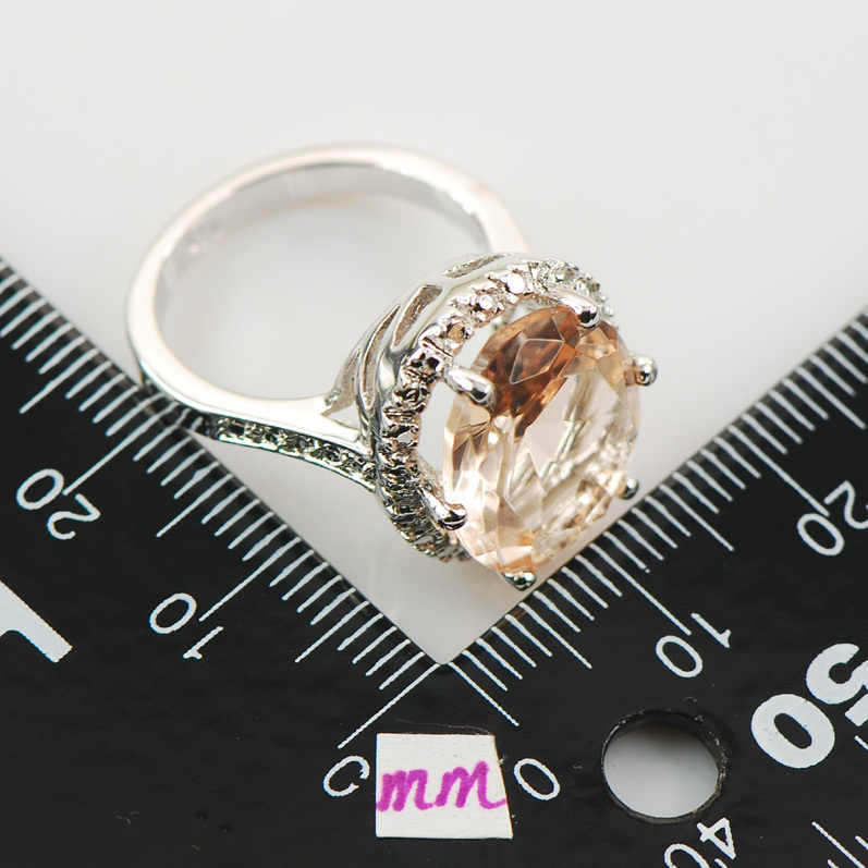 M organiteแฟชั่นผู้หญิง925แหวนเงินF974ขนาด6 7 8 9 10