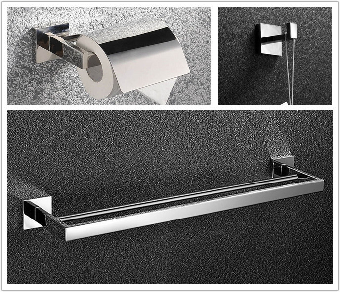 Free shipping Bathroom Accessories Set Robe Hook,paper Holder,single Towel Bar 3 Pcs/set SM21B jonathan swift guliver