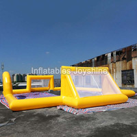 Factory customized 10*5m new inflatable football court/soccer pitch/inflatable football arena/field