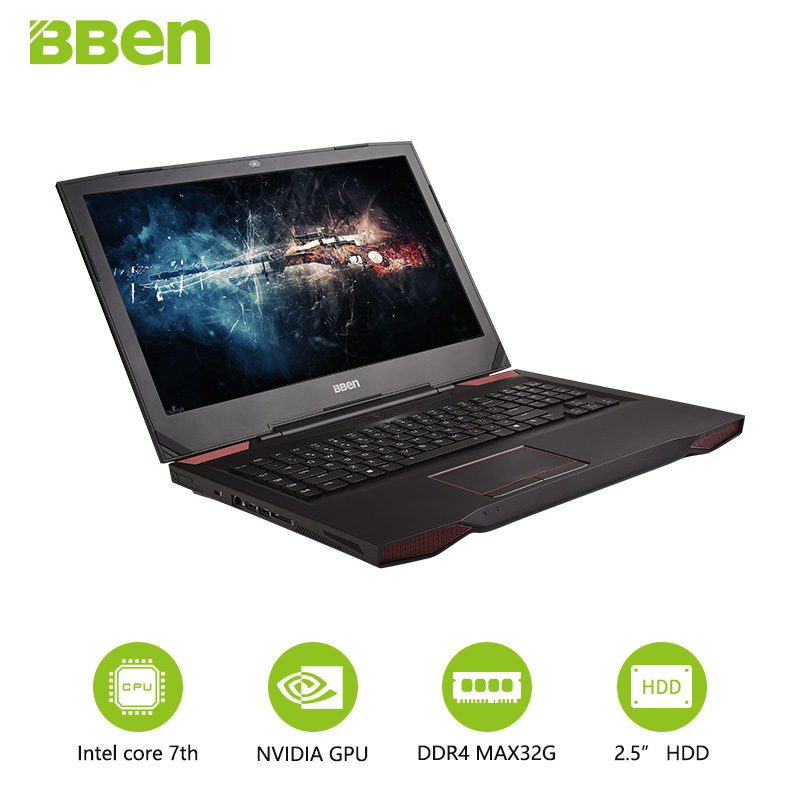 17 3 Inch 1920 1080 FHD Screen Gaming Backlit Laptop GTX1060 UltraBook With I7 7700HQ 16G