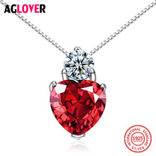 New Arrivals Red Fashion Necklace For Women 925 Sterling Silver CZ Heart Pendant Necklace Ladies Gifts Jewelry Bijoux Female велосипед трехколёсный lexus trike racer trike air ms 0637 оранжевый