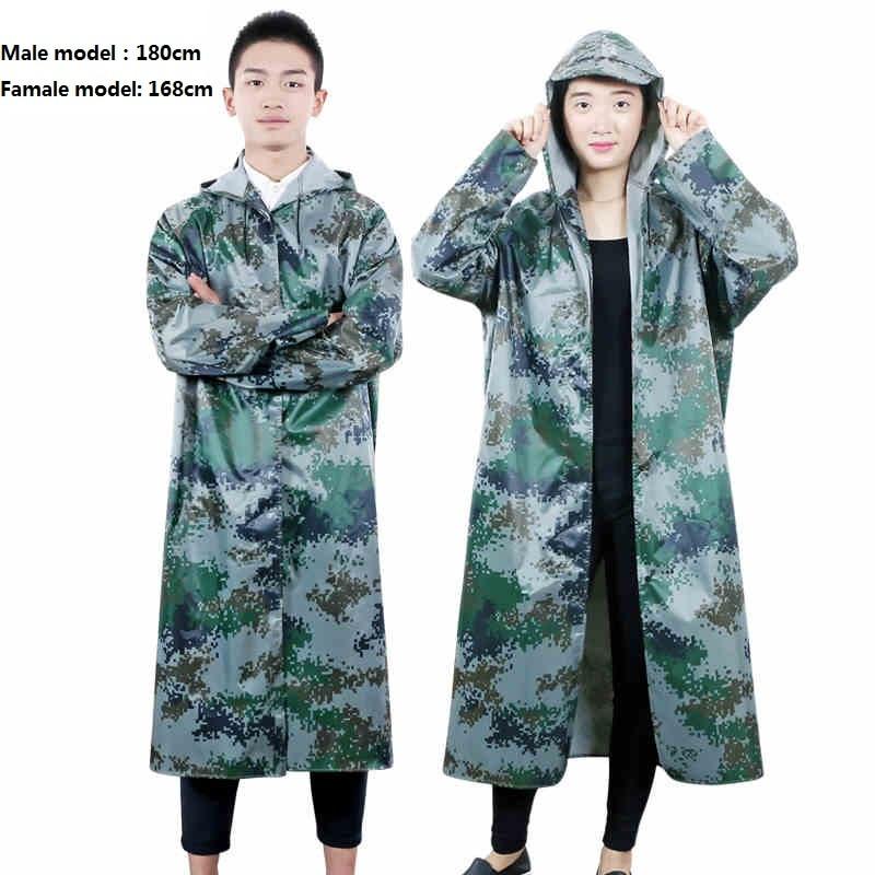 Extérieur Oxford Tissu PVC Manteau de Pluie Unisexe Long Imperméable Poncho Imperméable Ponchos Capa De Chuva Chubasqueros Mujer Taille Libre