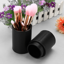 Tube makeup Brushes kit for and leather natural Duos bucket tool Rod Case Cube travel orga