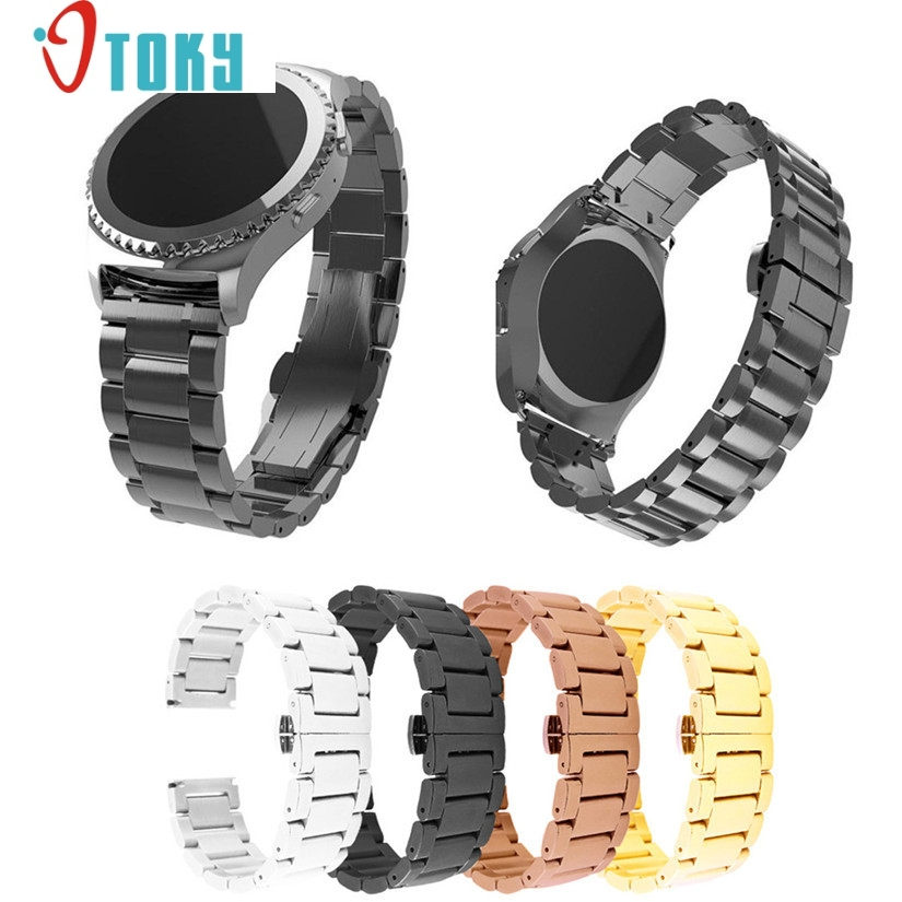Hot hothot 22mm Quick Release Watch Band Strap for Samsung Galaxy Gear S2 Classic Stainless Steel Strap Bracelet ot20 nov27 new arrival 22mm butterfly stainless steel watch band strap bracelet for samsung gear s2 classic r7320 pebble time round
