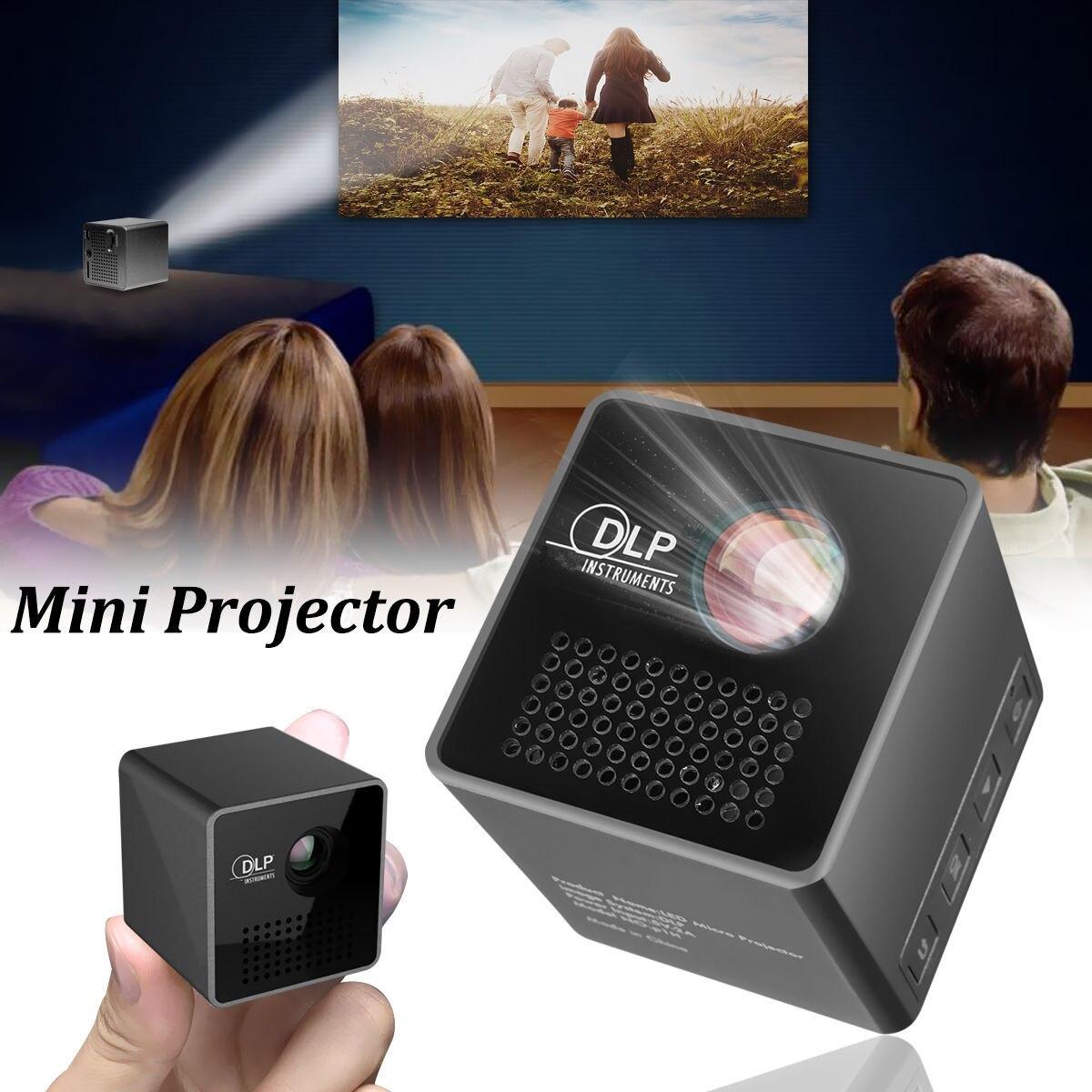 Mini projecteur P1 30 Lumens pour Micro projecteur intelligent de poche compatible projecteur de réunion USB TF