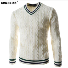 ROKEDISS fashion 2017 New Arrival Vail Sweaters Men Solid Long Sleeve Pullovers Men Sweater Winter Fight Sweater color Z197
