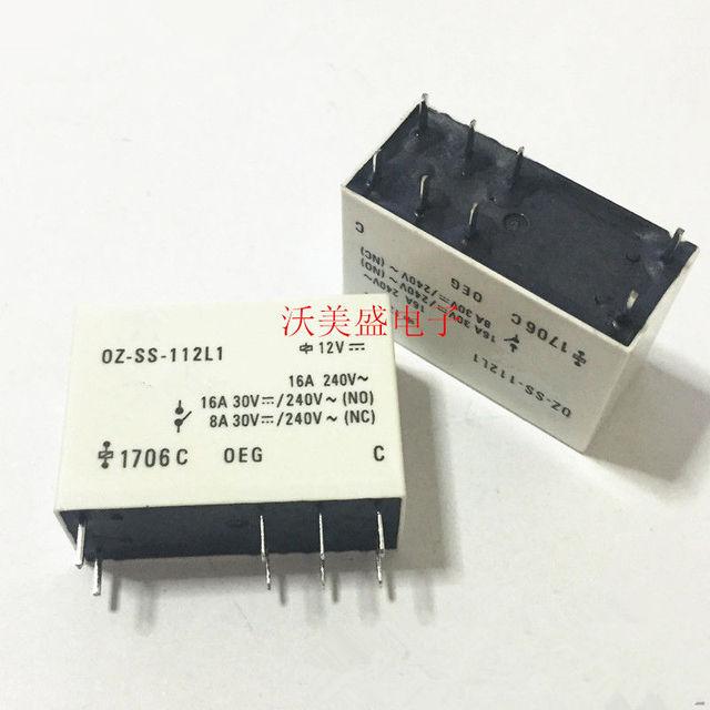 OZ-SS-112L1  8 16A 240VAC G2R-1-E-12VDC