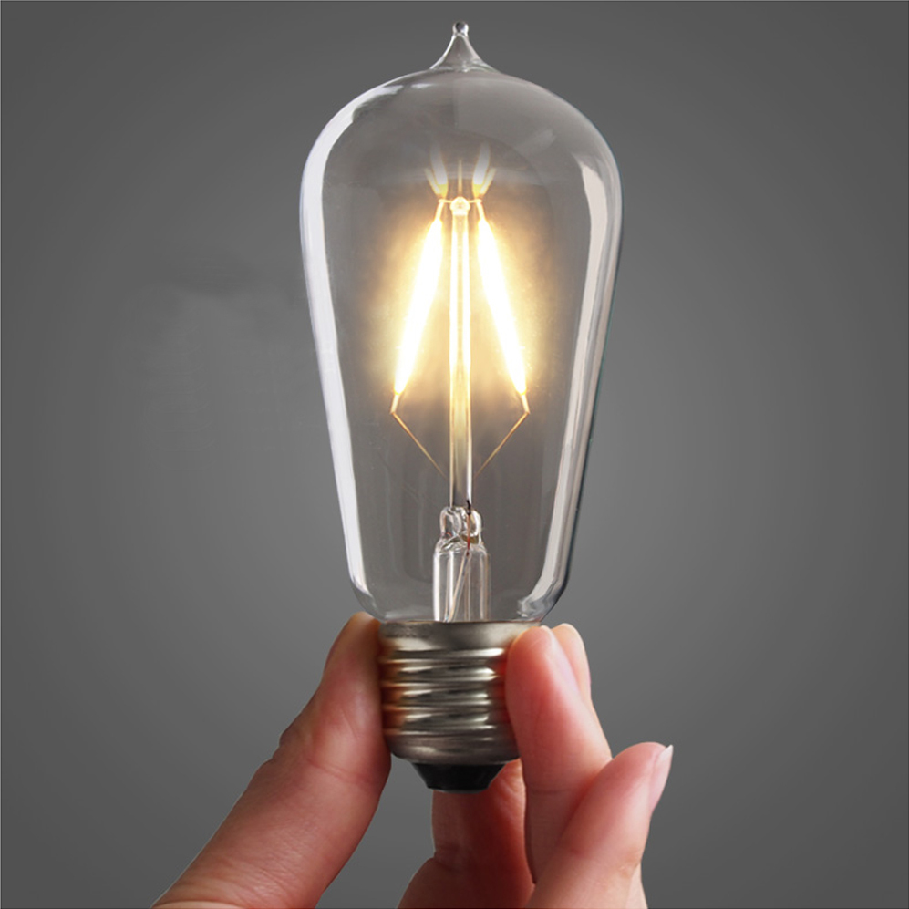 buy retro vintage led edison bulb e27 warm white st58 filament bulbs lamp. Black Bedroom Furniture Sets. Home Design Ideas