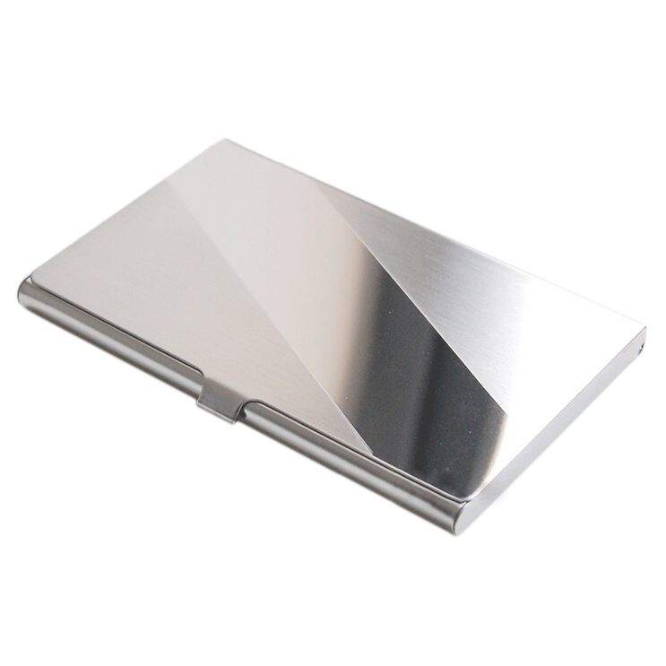 SOSW-Stainless Steel Aluminum Case Transmission Case Commercial Business Card Credit Card holder oblique