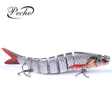 Купить с кэшбэком 8 Segments Sinking Fishing Lures Wobblers Swimbaits Hard Baits Fishing Tackle For Sea Fishing Lifelike Crankbait Bass Isca Pesca