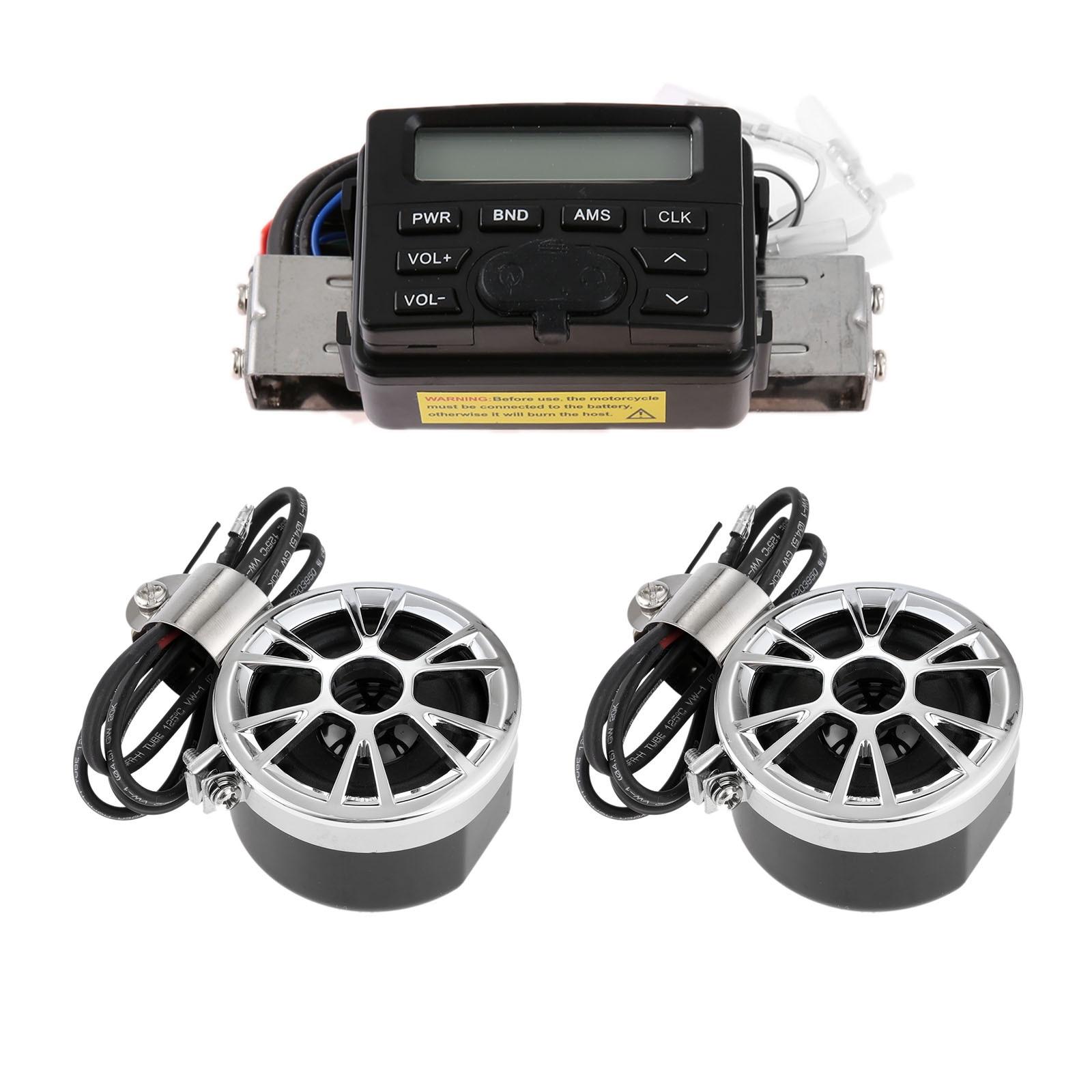 Yetaha moto guidon Radio haut-parleur boîte Audio MP3 étanche système de son
