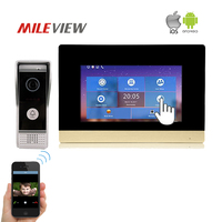 Free Shipping NEW 1 0MP 720P AHD HD IP SIP 7 Touch Screen Video Intercom Door