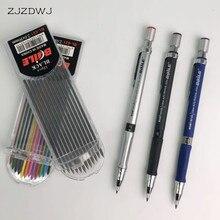 Механический карандаш, 2,0 мм, 2B, рисование, рисование, писательская деятельность, карандаш, with12-color, заправка, канцелярские принадлежности для офиса, школы
