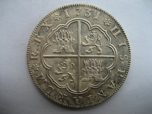 1731 Spanyol 8 Reales coin COPY