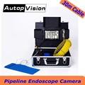 WP71 30 m cable vídeo industrial endoscopio Cámara 7''lcd impermeable Pipeline drenaje de alcantarillado sistema de cámara de inspección