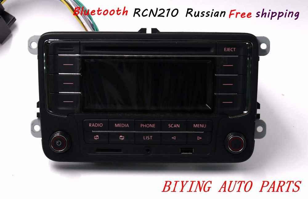 Russian Free Shipping Car Radio RCN210 CD USB MP3 SD Card AUX Bluetooth  Player for Golf 5 6 Jetta Mk5 6 Passat B6 B7 CC Tiguan