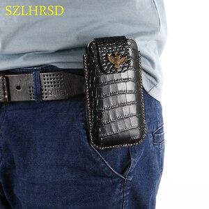 Image 5 - חגורת עור אמיתי טלפון Case פאוץ עבור Samsung Galaxy S10e M20 M10 S5 S7 S6 S9 S8 S10 בתוספת Note8 הערה 9 פי s9plus A6