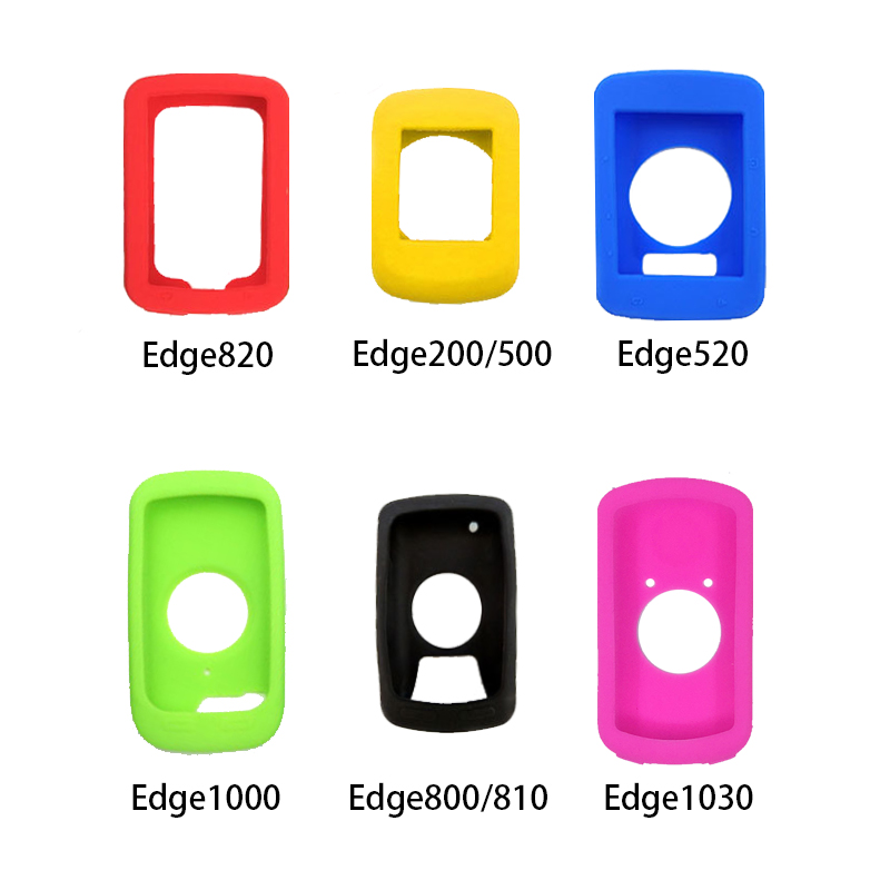 Silicone Shock Protection Cover Case For Garmin Edge 820 520 200 500 MTB Road <font><b>Bike</b></font> Bicycle <font><b>GPS</b></font> <font><b>Computer</b></font> <font><b>With</b></font> Film image