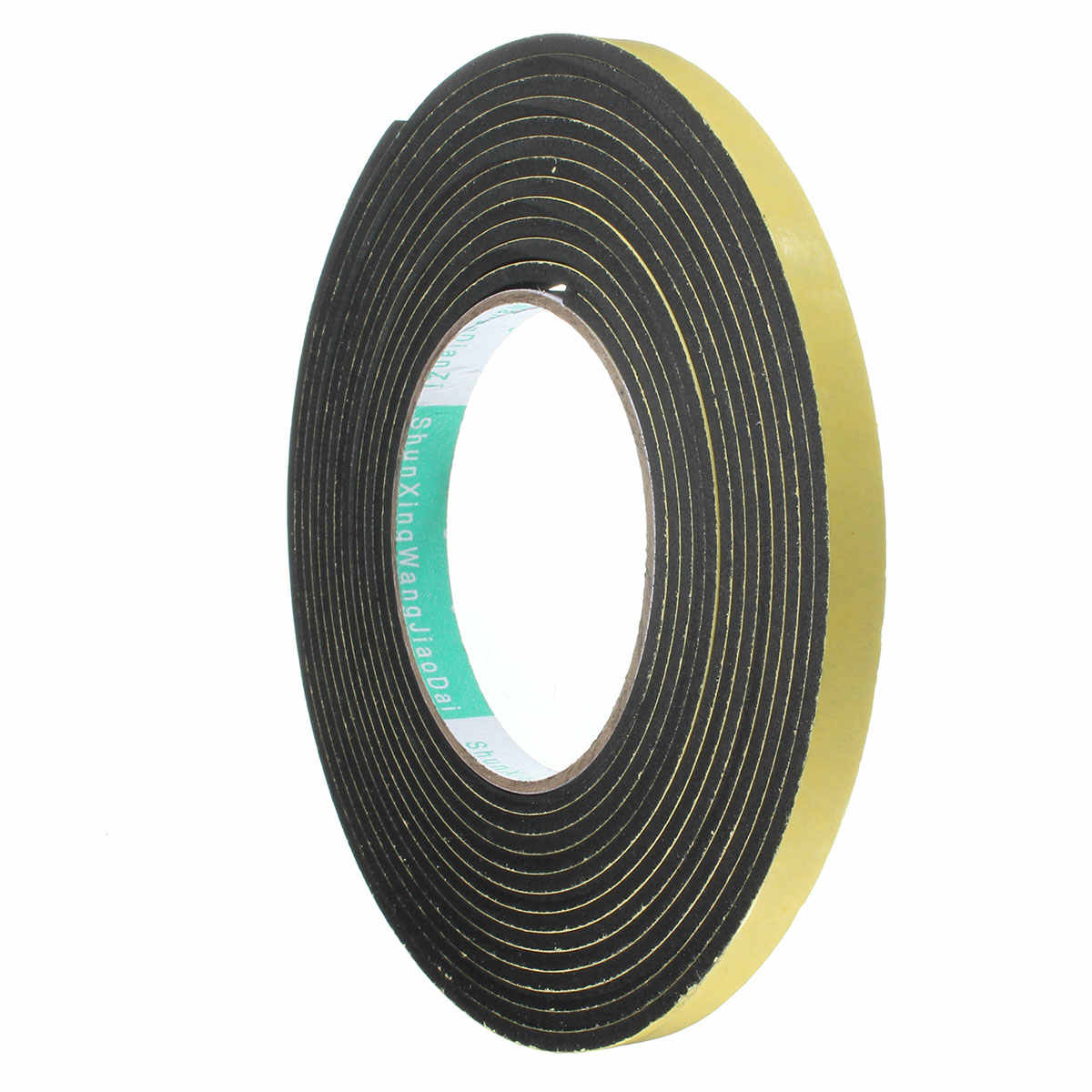 Newest 5m x 3x10mm Single Sided Adhesive Waterproof Weather Stripping Foam Sponge Rubber Strip Tape Door Seal Promotion Price