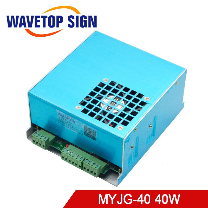 40W CO2 Laser Power Supply 20KV 23mA MYJG-40W for CO2 Laser Engraving Cutting Machine diy 40w co2 laser kits for laser cutting and engraving machine