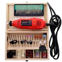 Полировщик мощности 220 В электрический шлифовальный станок мини-ручка для резьбы Набор инструментов Миниатюрная дрель DIY ручные инструменты по дереву