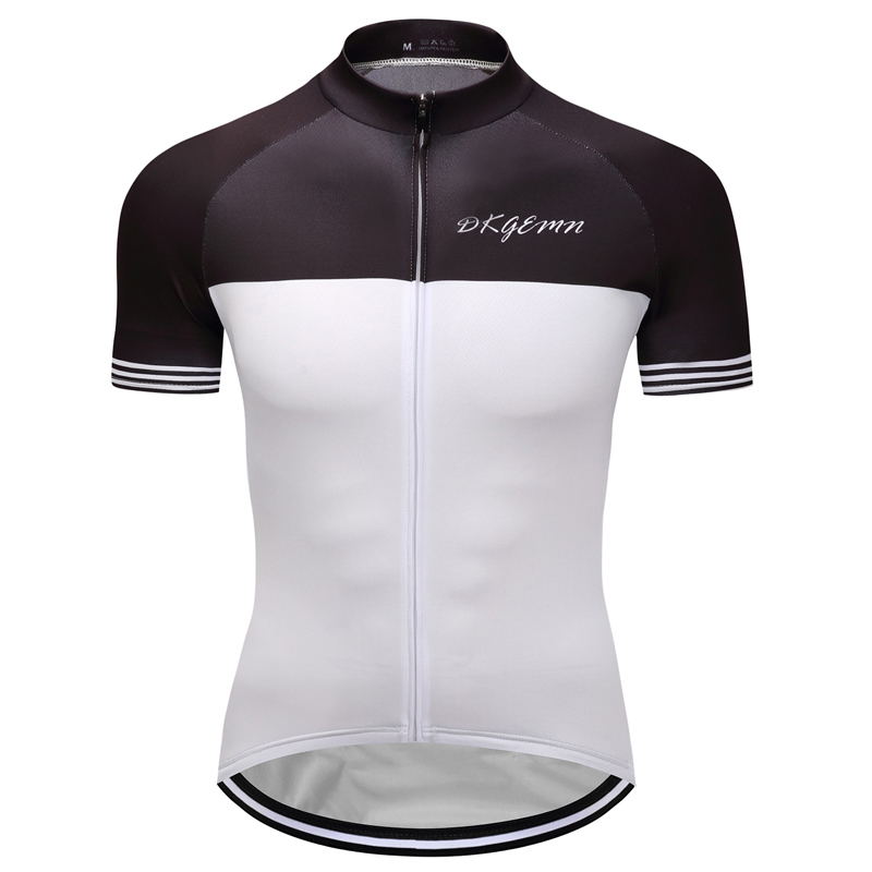 2019 Hot Jerseys Men's Team Cycling Road Bike Short Sleeve Jersey Black White Fashion Sportswear Shirt Fashion New Men's Top For Improving Blood Circulation